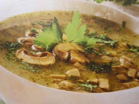 Суп шампиньонов картофелем рецепт фото