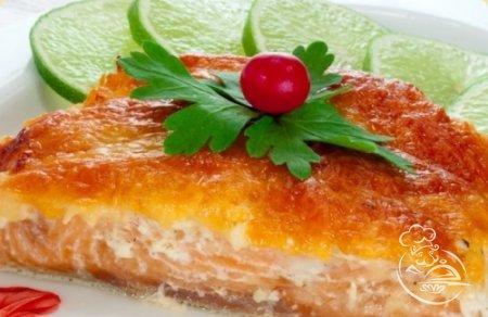 красная рыба в духовке рецепты с майонезом фото