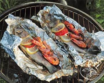 как приготовить рыбу в фольге на природе