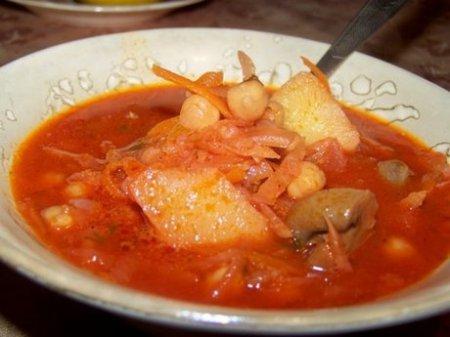 Борщ с нутом – вкусное овощное блюдо к посту
