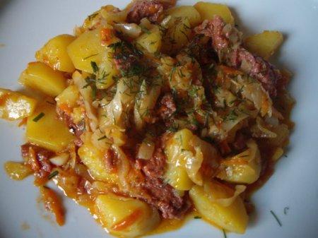 Тушеная картошка с тушенкой рецепт