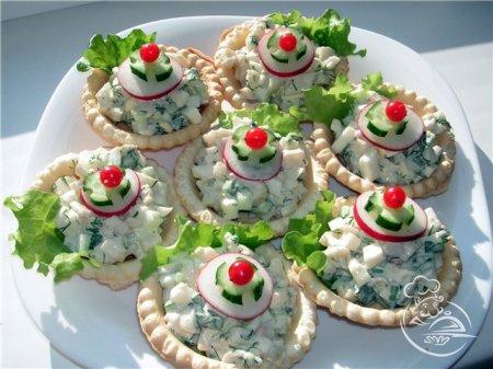 Фото салатов в тартолетках