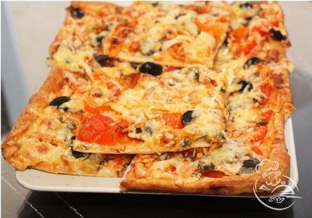 пицца рецепты из слоеного теста с фото