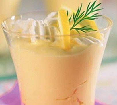 Лимонный крем с безе
