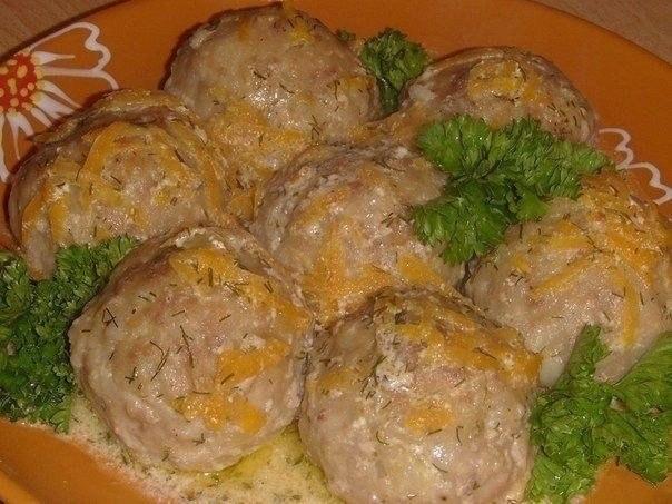 Тефтели со сметанной подливкой рецепт с фото