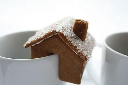 Рождественское печенье-домик на чашку (ФОТО)