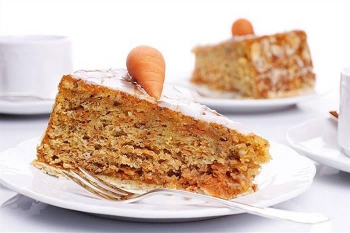 Морковно-миндальный пирог