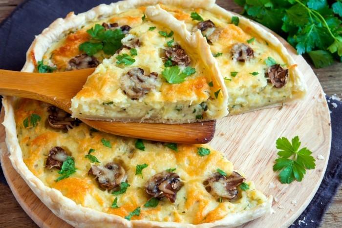 пирог с шампиньонами рецепт с фото