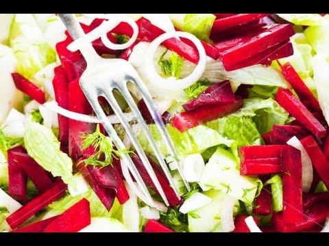 Свекольный салат с финиками и орехами (ВИДЕО)