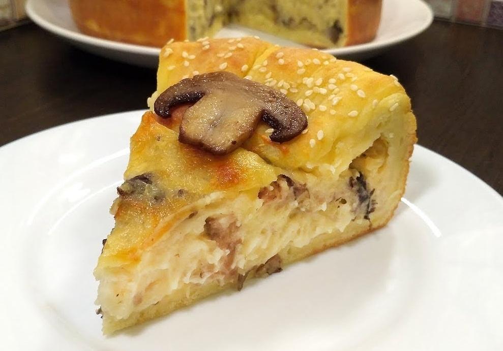 Картинки по запросу Барон-Шампиньон. Пирог-галета с грибами и картошкой.