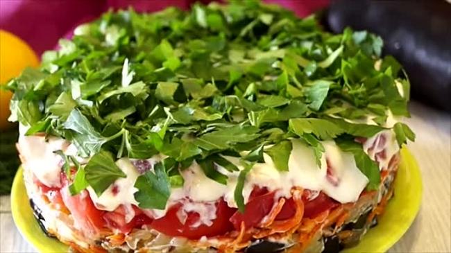 Просто божественный салат «Баклажанный Рай» (ВИДЕО)
