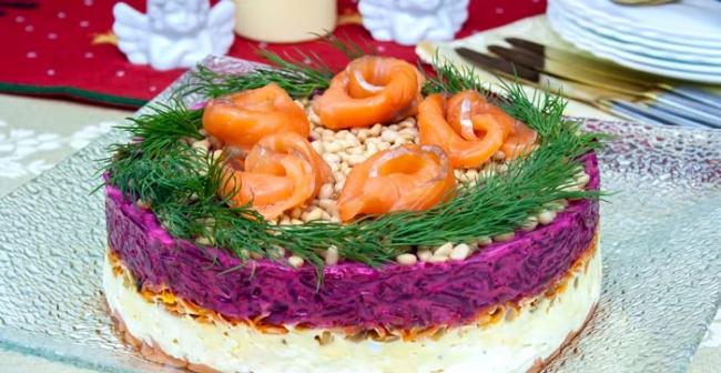 Шикарный салат  «Шуба по-королевски»