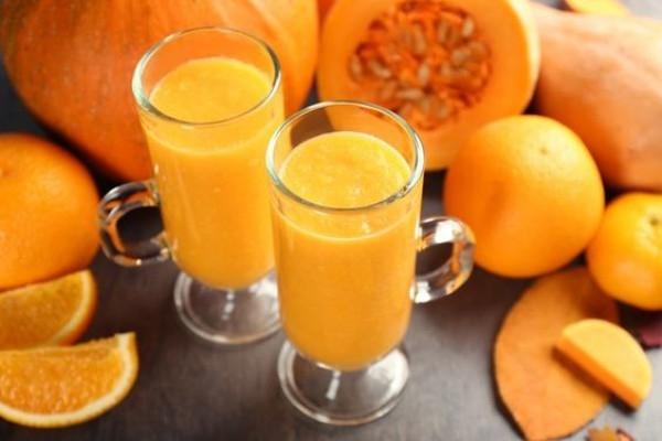 Апельсиново-тыквенный кисель с корицей