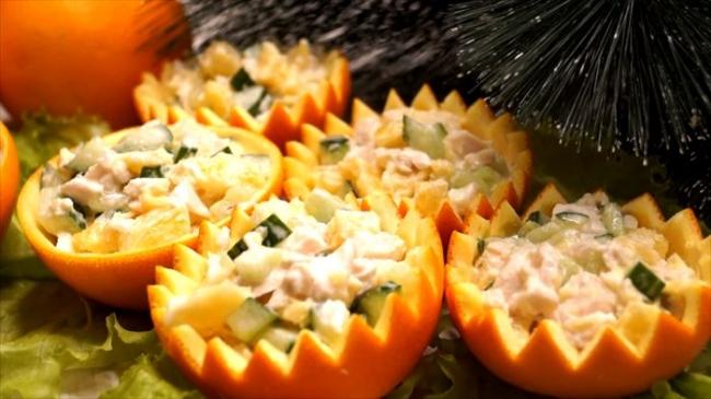 Салат «Корзинки-Апельсинки» (ВИДЕО)