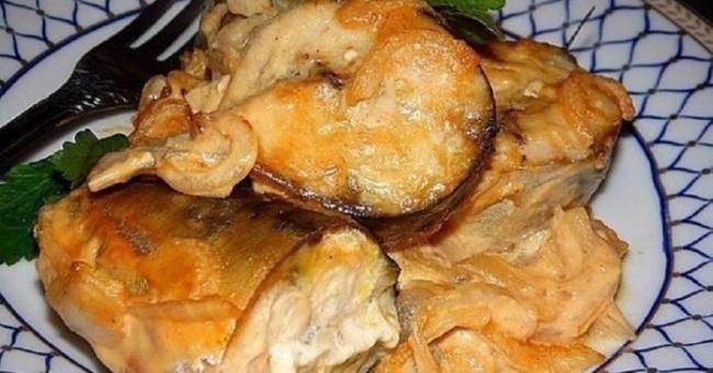 Скумбрия, запеченная в горчичном соусе - «Второе блюдо»