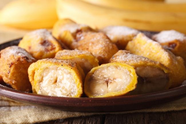 Бананы в тесте: просто и вкусно