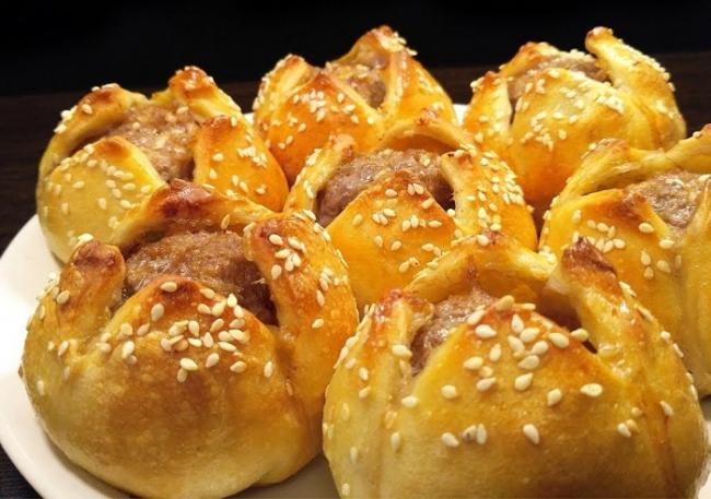 Пирожки-тюльпаны с мясом (ВИДЕО)