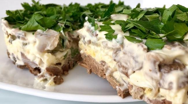 Слоеный салат «Чудо» (ВИДЕО)