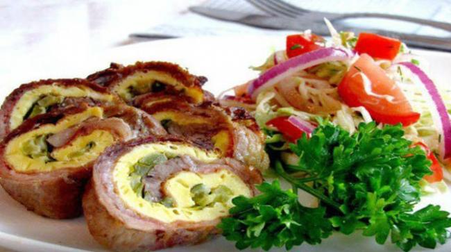 Мясной рулет по-чешски