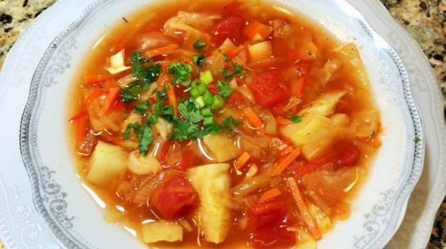Жиросжигающий суп  (ВИДЕО)