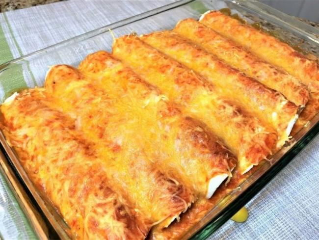 Энчиладас с курицей и фасолью (ВИДЕО)