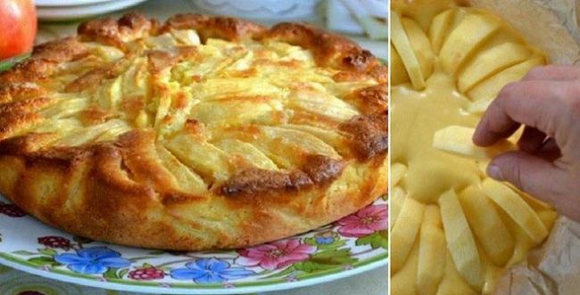 Деревенский итальянский пирог с яблоками