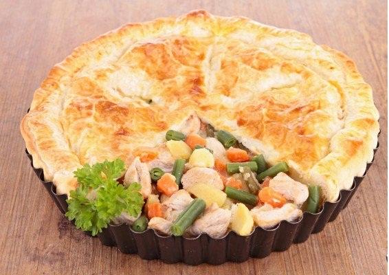 «Пирог» с курицей и овощами