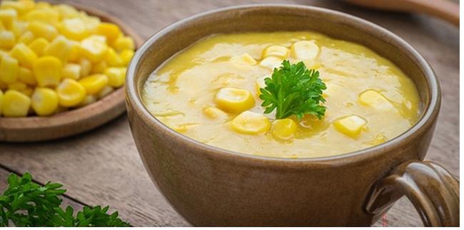 Суп карри со сладкой кукурузой