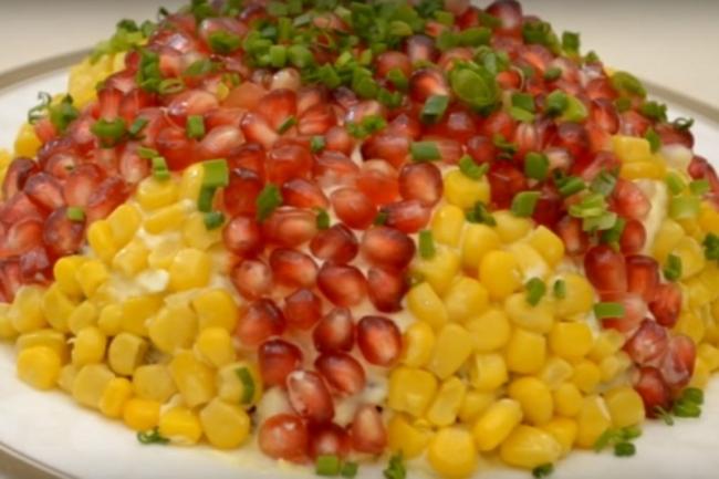 Вкусный салат на новогодний стол