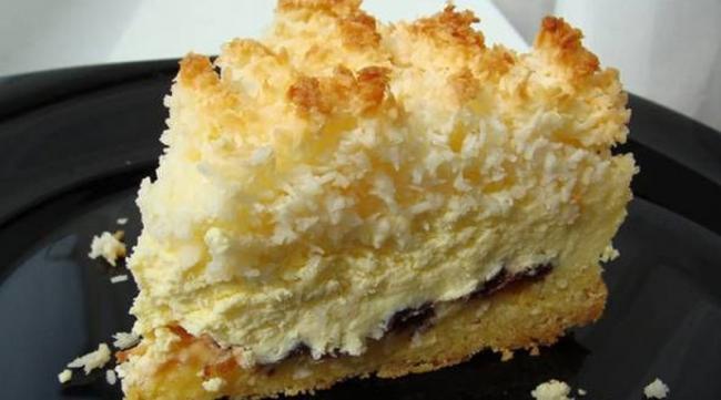 Пирог «Кудряшкин» с творожной начинкой