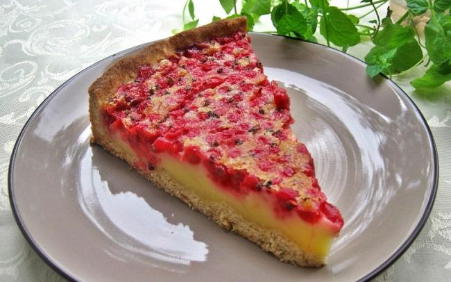 Пирог с красной смородиной: реально вкусно