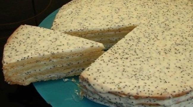 Сметанный торт с маком: Простенько и с нежным вкусом