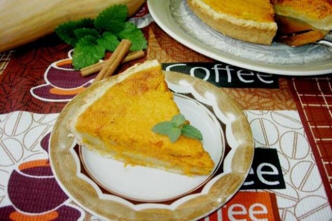 Тыквенный пирог с изюмом, корицей и цедрой лимона