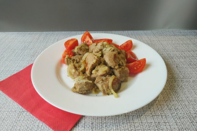 Мясо в рукаве в остром маринаде из горчицы и хрена
