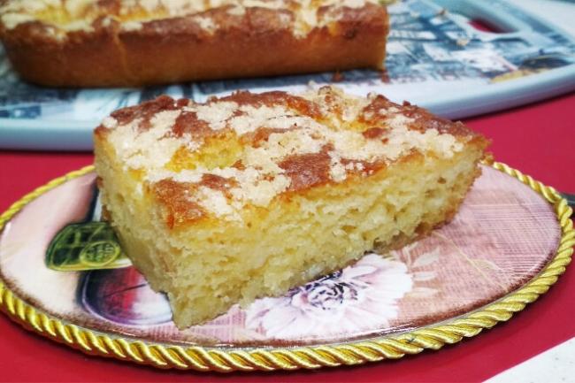 Классический французский сахарный пирог на дрожжевом тесте