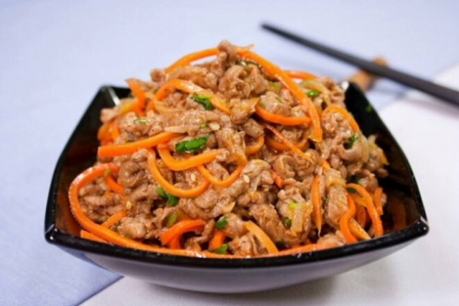 Телятина «Хе» с корейской морковью