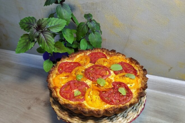 Пирог с помидорами и сыром по-американски