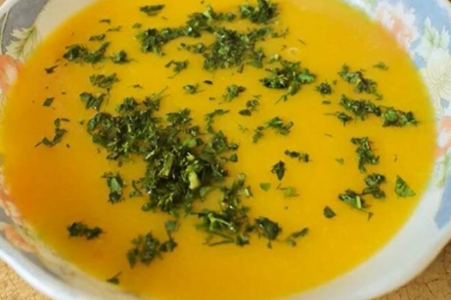 Суп-пюре из тыквы, кабачка и картофеля