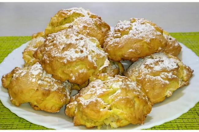 Итальянское печенье с яблоками и грецкими орехами