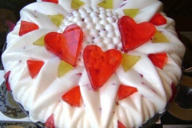 Торт-чизкейк «Разноцветные льдинки»