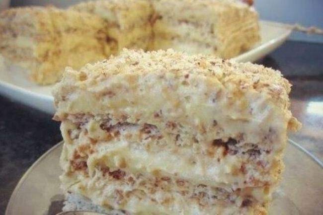 Египетский торт с молочным кремом