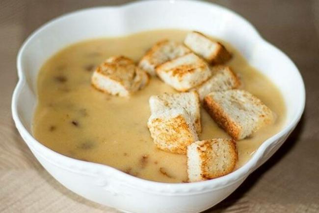 Грибной суп-пюре с картофелем и морковью