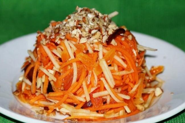 Салат из тыквы и моркови с медом
