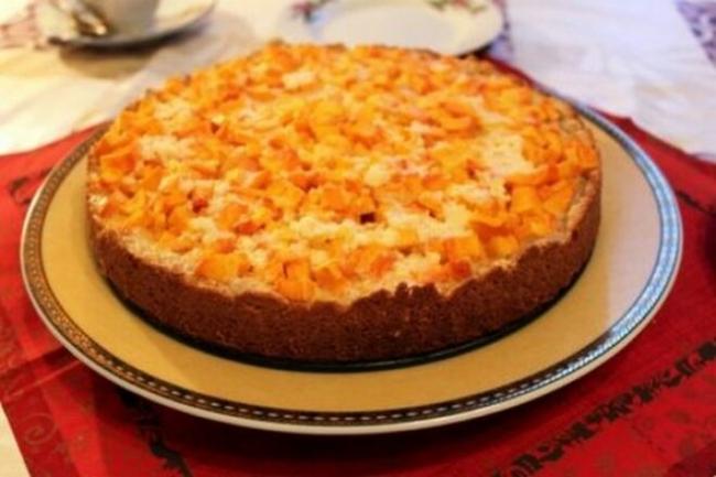 Пирог с тыквой и творогом по-татарски