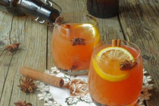 Безалкогольный яблочно-апельсиновый сидр