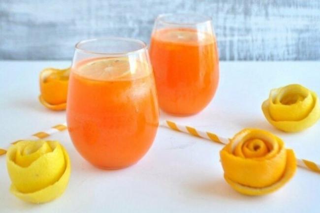 Апельсиновый лимонад с лимонным соком