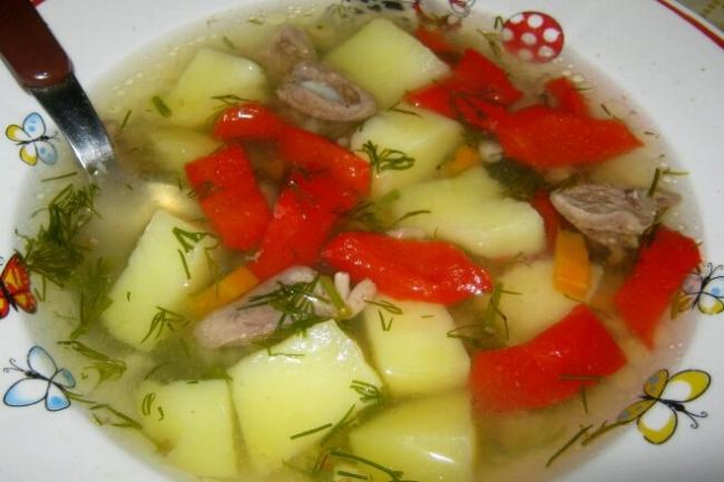 Сытный суп «Сердечный»