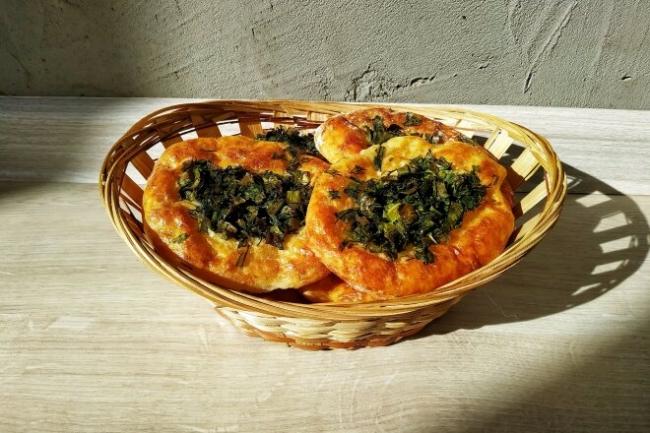 Творожно-сырные бублики-баранки с зеленью