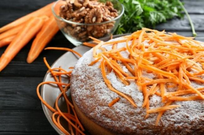 Морковно-шоколадный пирог в духовке