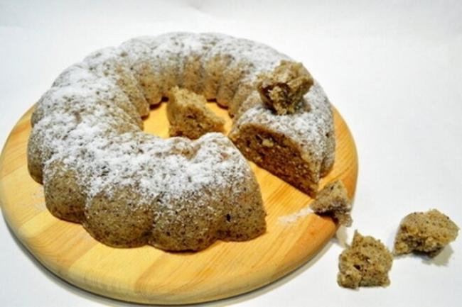 Ореховый кекс в микроволновке за 15 минут